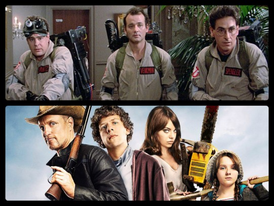 Ghostbusters (1984) appears in Zombieland (2009)